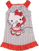 Komar Kids Hello Kitty Black & Red Polka Dot Nightgown - Girls