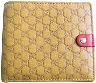 Gucci Yellow Leather Small bags, wallets & cases