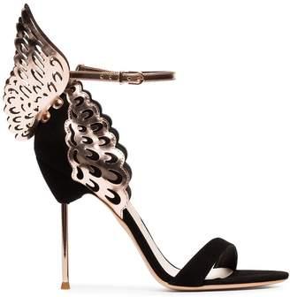 Sophia Webster black Evangeline 100 wing suede sandals
