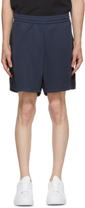 Acne Studios Navy and Black Side-Stripe Track Shorts