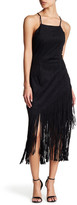 Alexia Admor Faux Leather Fringe Dress