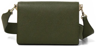Valextra Small Swing Bag with Adjustable Strap in Military Green