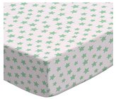 Camilla And Marc SheetWorld Round Crib Sheets - Pastel Green Stars Woven - Made In USA - 106.7 cm (42 inches)
