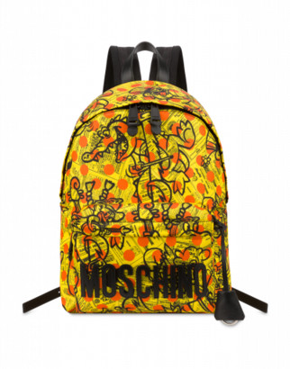 Moschino Yellow Pages Backpack Man Yellow Size U It - (one Size Us)