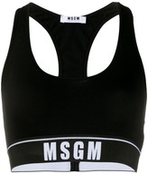 MSGM logo-jacquard cropped tank top