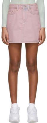 Acne Studios Pink Bla Konst Denim Caitlyn Miniskirt