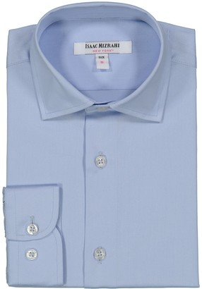 Isaac Mizrahi Solid Dress Shirt (Toddler, Little Boys & Big Boys)