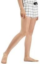 Topshop Women's Windowpane Check Pajama Shorts