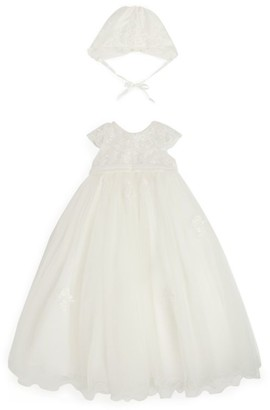 Sarah Louise Lace-Embellished Christening Dress (3-12 Months)