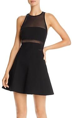 LIKELY Renee Mesh Detail Mini Dress