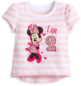 Disney Minnie Mouse ''I Am 2'' Birthday Tee for Baby