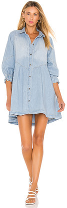 Free People Hannah Mini Denim Dress