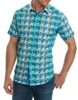Robert Graham Ipanema Graphic-Print Short-Sleeve Sport Shirt