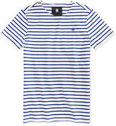G Star Men's Striped Cotton T-Shirt