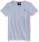 G Star Men's Striped Cotton T-Shirt