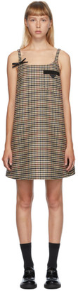 Prada Multicolor Check Pocket Dress