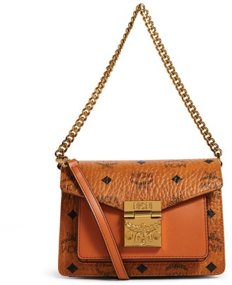MCM Mini Leather Visetos Patricia Cross-Body Bag