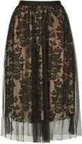 Izabel London *Izabel London Black Floral Mesh Skirt