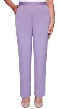 Alfred Dunner Petite Loire Valley Straight-Leg Pants