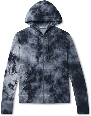 James Perse Tie-Dyed Loopback Supima Cotton-Jersey Zip-Up Hoodie