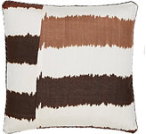 Madeline Weinrib Striped Ikat Silk-Cotton Pillow-BROWN