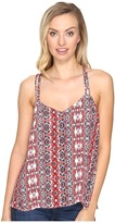BB Dakota Marjoram Printed Strap Tank Top