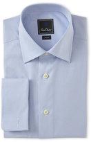 David Donahue Mini-Houndstooth French Cuff Dress Shirt