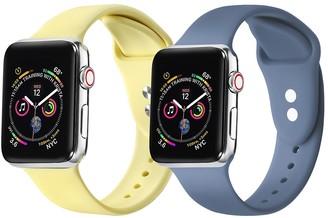 Posh Tech Yellow/Atlantic Blue Apple Watch Replacement Band - Set of 2