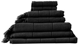 Aura Home Paros Bath Towel Set - Black Black Bath