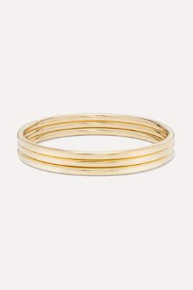 Jennifer Fisher Set Of Three Gold-plated Bangles