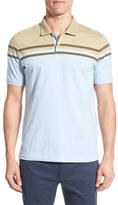 Victorinox Trim Fit Chest Stripe Jersey Polo