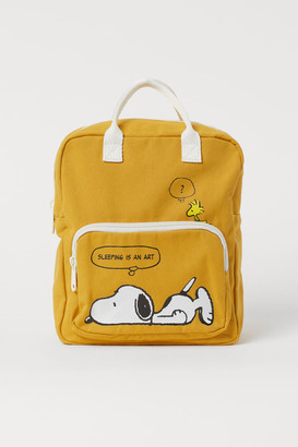 H&M Canvas Backpack - Yellow