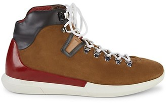Bally Suede Leather Lace-Up Boots