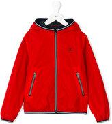 Fay Kids - striped trim hooded jacket - kids - Polyamide - 6 yrs