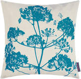 Clarissa Hulse Angelica Cushion - 55x55cm - Natural Linen/Dark Kingfisher