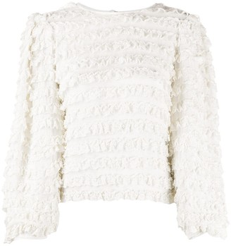 Isabel Marant Ruffle Long Sleeve Blouse