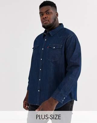 Levi's PLUS classic western shirt-Blue