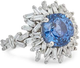 Suzanne Kalan White Gold Diamond and Sapphire Fireworks Ring