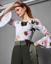 Ted Baker Chatsworth Bloom bell sleeved top