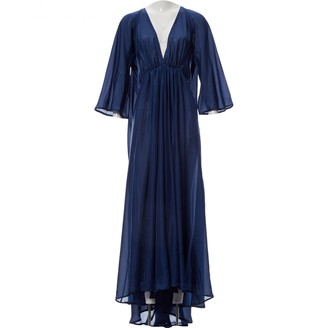 Kalita Navy Silk Dress for Women