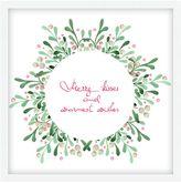 Pottery Barn Mistletoe Wreath Framed Print