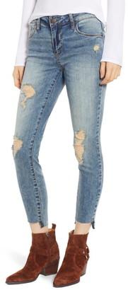 KUT from the Kloth STS Blue Emma Ripped Step Hem Skinny Jeans