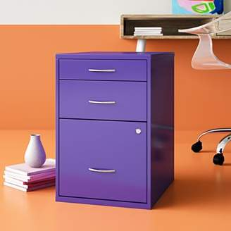 Medrano 3 Drawer Vertical Filing Cabinet Hashtag Home Finish: Purple
