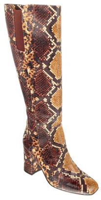Chie Mihara Rica Snake-Print Knee Boots