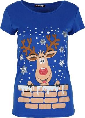 Be Jealous Womens Cap Sleeve Gingerbread Climb Xmas T Shirt Gingerbread Climb Black Plus Size (UK 16/18)