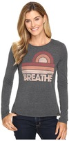 Life is Good Breathe Sun Stripes Long Sleeve Sweet Tee