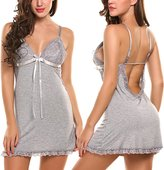 Avidlove Sexy Lingerie Women Chemise Lace Babydoll Full Slip Sleepwear Dress