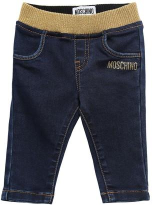 Moschino Cotton Blend Denim Effect Pants