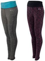 Slazenger Full Length Gym Leggings Active Wear Yoga Pants Running Bottoms