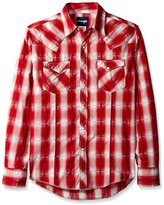 Wrangler Men's Big and Tall Plaid Long Sleeve Two Pocket Snap Shirt